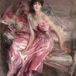 Boldini: Signora in rosa
