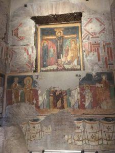 Particolare degli affreschi di Santa Maria Antiqua