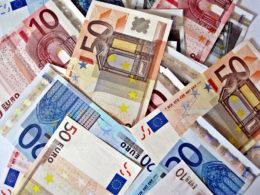 Banconote di euro di vari tagli