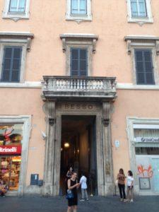 Entrata di Palazzo Besso