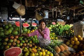 Un mercato ortofrutticolo di Nairobi