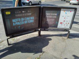 Pubblicità dell'Estate Romana a piazza Vittorio