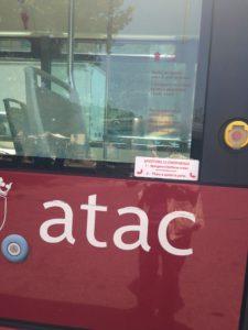 Logo Atac su un autobus
