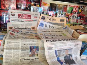 Carta stampata, Quotidiani nazionali