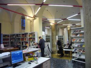 Interno della Biblioteca Rispoli