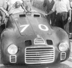Nuvolari a bordo di una Ferrari 125S - Livorno 1947