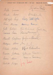 Alcune firme di colleghi giornalisti