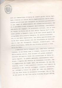 Lettera di Spadolini