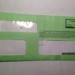 Multa, la busta verde