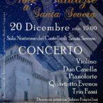 Note natalizie, locandina del concerto