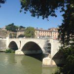 Lavori a Ponte Principe, ponte Principe con i ponteggi