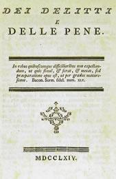 """Beccaria, Il libro di Cesare Beccaria """"Dei delitti e delle pene"""""""