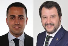 il M5S perde la piazza, Luigi Di Maio e Matteo Salvini
