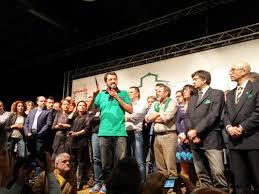 il rosario, Matteo Salvini ad una manifestazione leghista