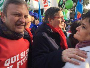 San Giovanni, Particolare della manifestazione del sindacato a piazza San Giovanni a Roma