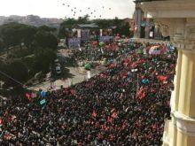 San Giovanni, manifestazione a piazza San Giovanni a Roma