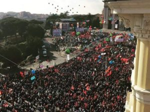 Sindacato, manifestazione Cgil,-Cisl-Uil a piazza San Giovanni a Roma