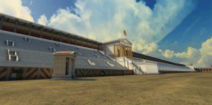 Circo Massimo, Ricostruzione virtuale di parte delle tribune e della pista del Circo Massimo