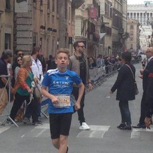 Miglio di Roma, giovane corridore