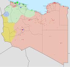 Tripoli, cartina della Libia