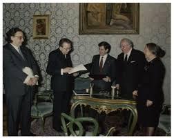 De Michelis, De Michelis con Andreotti, Iotti e Spadolini