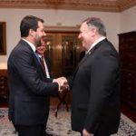 Salvini trumpiano, Matteo Salvini con il segretario di Stato Usa Mike Pompeo