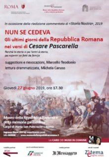 Pascarella, La Repubblica Romana raccontata da Pascarella
