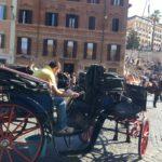 Carrozzelle, botticella a piazza di Spagna