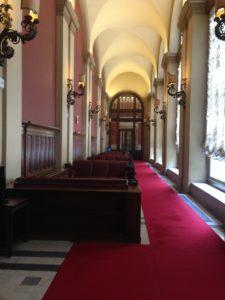 Il Collezionista di Santini, Un corridoio della Camera