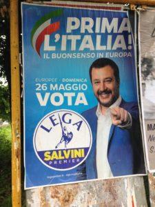 parlamento europeo, Manifesto elettorale di Matteo Salvini