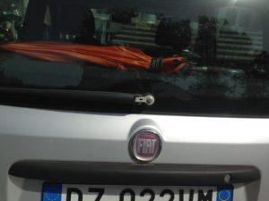 Alfa Romeo, marchio Fiat su una Panda