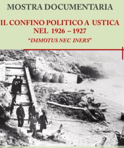 Il confino politico, locandina della mostra a Roma sul confino politico a Ustica
