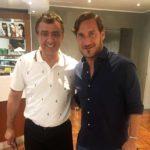 Tutumlu, Bayram Tutumlu con Francesco Totti