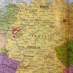 Sassonia, cartina della Germania