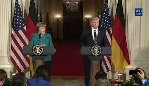 Sassonia, Angela Merkel e Donald Trump