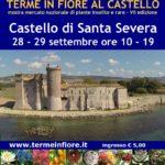 Terme in Fiore, Locandina dell'esposizione di Terme in Fiore nel castello di Santa Severa