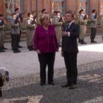 Asse franco-tedesco. Angela Merkel con Emmauel Macron