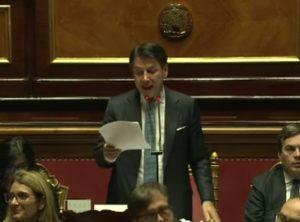 Mes, Giuseppe Conte interviene al Senato