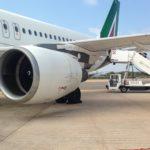 Nebbia fitta su Alitalia, aereo Alitalia