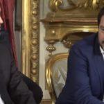 Mes, Di Maio e Salvini al guiramento al Quirinale per il primo governo Conte