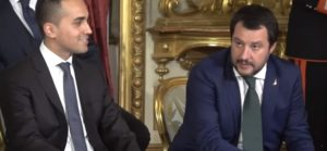 Mes, Di Maio e Salvini al giuramento al Quirinale per il primo governo Conte