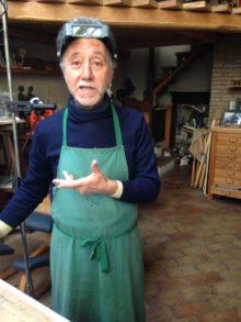 Gino Giannetti, Gino Giannetti nel suo studio di scultore