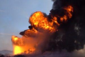 Soleimani, pozzi petroliferi in fiamme