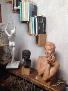 Gino Giannetti, Tre sculture nello studio di Gino Giannetti
