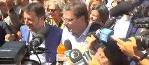 Giorgetti, Giancarlo Giorgetti e Matteo Salvini