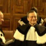 Occupazione, Mario Draghi in toga accademica