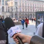 Mascherina, Ragazzi con mascherine a Milano