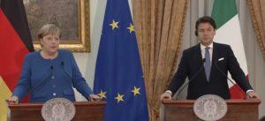 Emergenza Covid 19, Angela Merkel e Giuseppe Conte