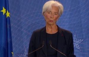 Emergenza Covid 19, Christine Lagarde