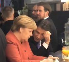 Kurz, Angela Merkel e Giuseppe Conte